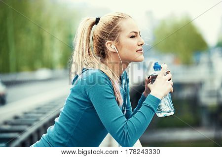 Having Break After Jogging