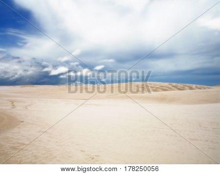 Lencois Maranhenses dunes sand blue sky Brazil