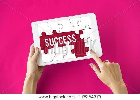 Success Achievement Improvement puzzle pieces