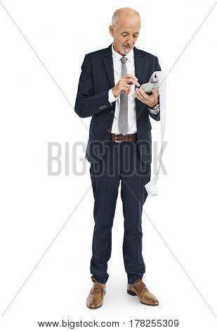 Businessman Calculating Financial Transaction Payment