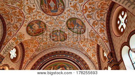Eguisheim France - july 23 2016 : the Saint Leon church