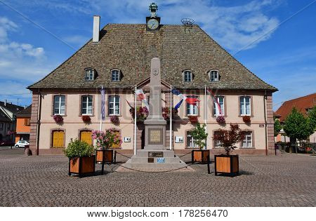 Neuf Brisach France - july 23 2016 : the city hall