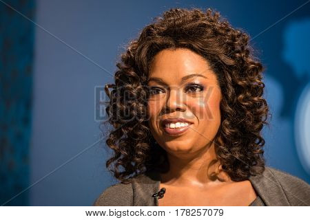 Bangkok - Jan 29: A Waxwork Of Oprah Winfrey On Display At Madame Tussauds On January 29, 2016 In Ba