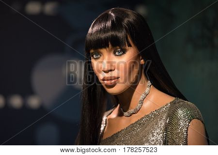 Bangkok-jan 29:a Waxwork Of Naomi Elaine Campbell On Display At Madame Tussauds On January29, 2016 I