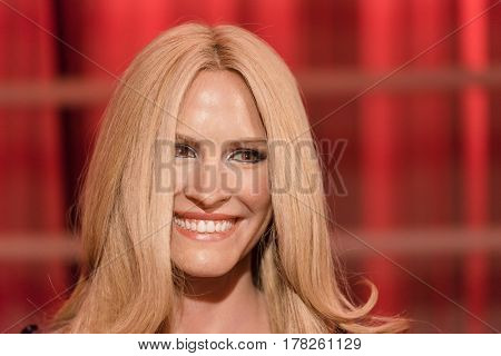 Bangkok -jan 29: A Waxwork Of Julia Roberts  On Display At Madame Tussauds On January 29, 2016 In Ba