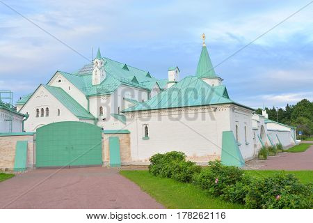 Ratna Sovereign House - architectural monument of neo-Russian style in Tsarskoe Selo suburb of St.Petersburg Russia.