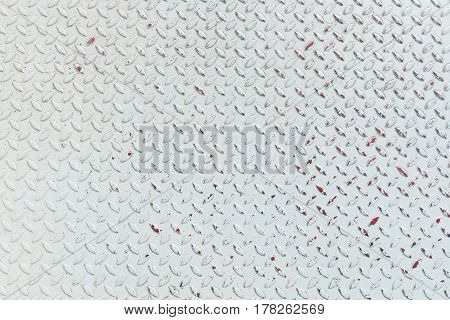 Close up White steel plate pattern background useful as background