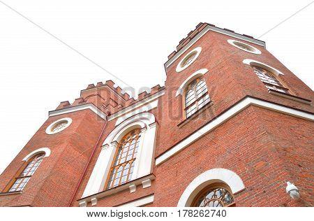 Pavilion Arsenal in Alexandrovsky Park Tsarskoe Selo suburb of Saint Petersburg Russia.