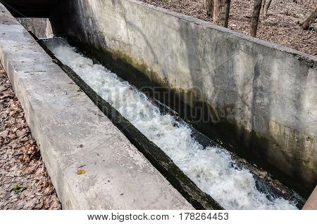 Concrete Chute Water