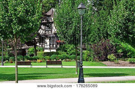 Strasbourg France - july 24 2016 : the Orangerie park in summer