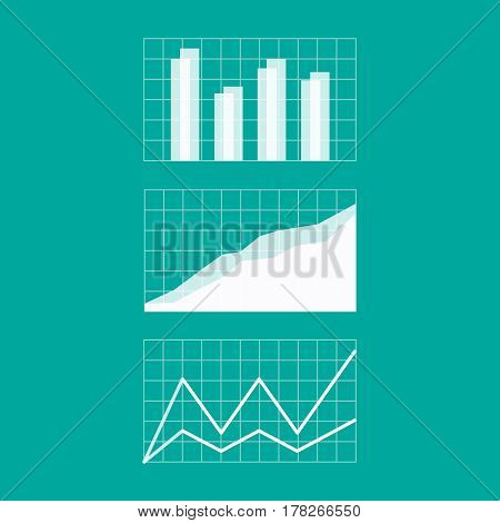 Graphs and charts. Vector Business Chart Presentation Icon
