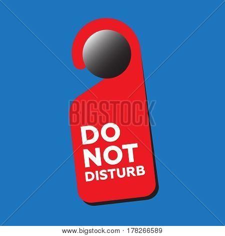 Do Not Disturb Door Sign vector illustration