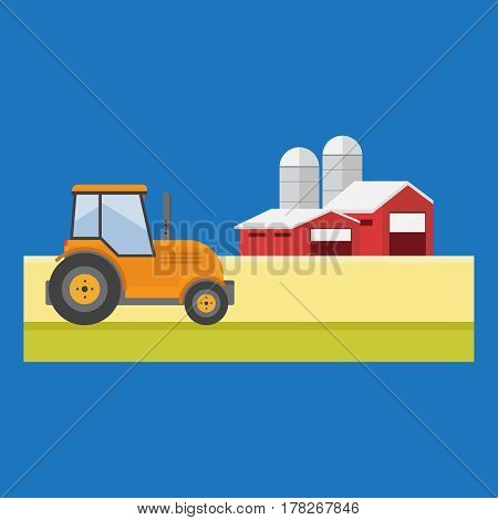 Agriculture and Farming. Agribusiness. Rural landscape vector