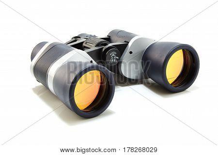 Gray With Dark Blue Binocular