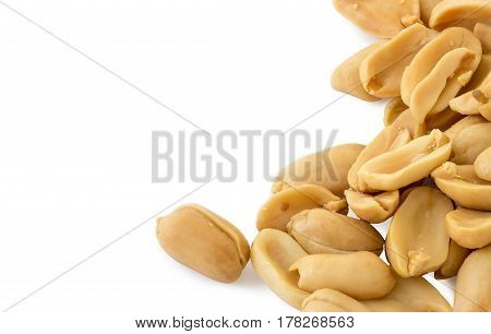 Peanuts isolated on white background and clipping path