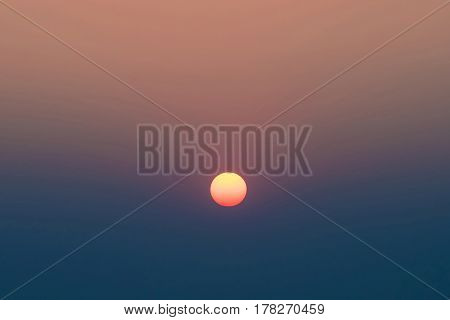 Nature Egg Yolk Sunset with colourful sky environment