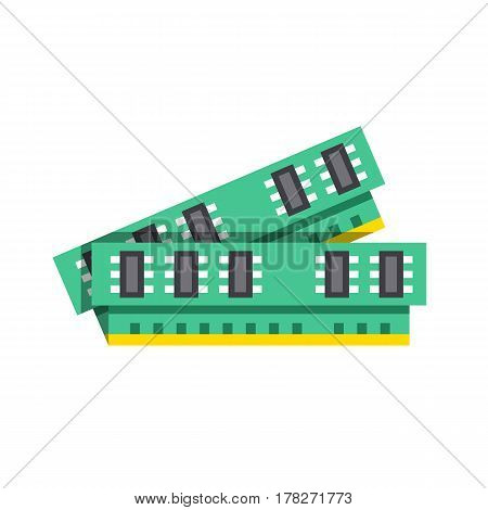 Computer memory, RAM icon. Modern flat design graphic element. Vector illustration