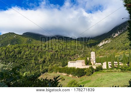 Panoramic View Of San Pietro In Valle Monastery