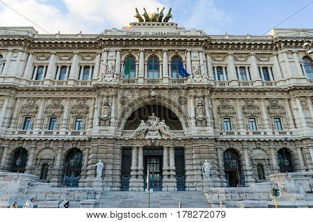Court Of Appeal, Palace Of Justice Building Exterior, Rome. Italy
