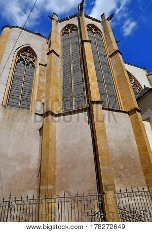 Metz France - july 25 2016 : the picturesque Saint Martin church