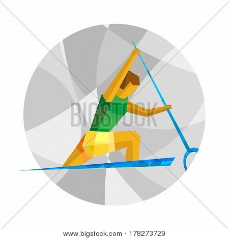 Canoe Sprint With Abstract Patterns