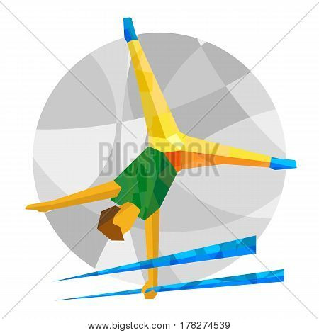 Artistic Gymnastics With Abstract Patterns