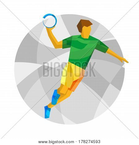 Handball Player With Abstract Patterns