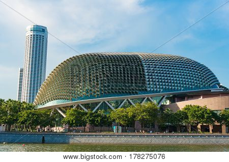 Theatres On The Bay Building At Marina Bay In Singapore