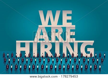 Business Hiring Concept. Hr Manager Hiring Employee Or Workers For Job. Recruiting Staff Or Personne