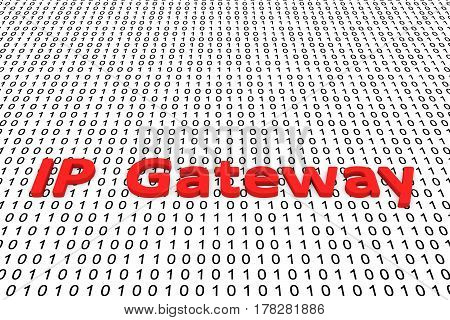 IP Gateway in the form of binary code, 3D illustration