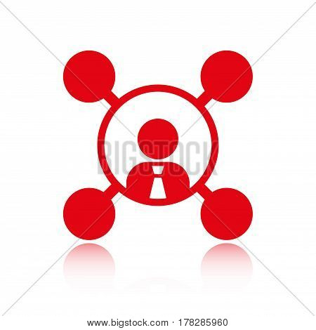 users of social networks icon stock vector illustration flat design