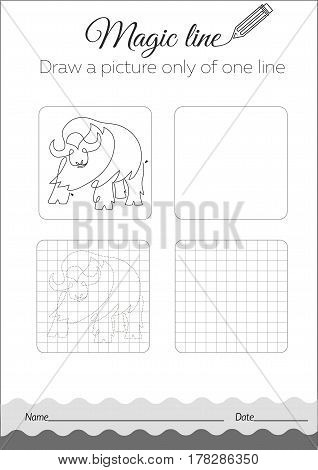 Coloring Book Buffalo  Black