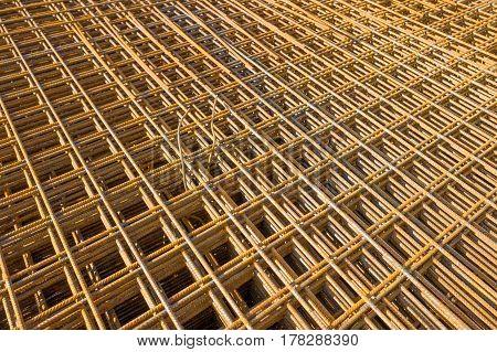Concrete rebar at a construction place in Voorschoten Netherlands.