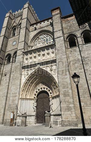 Avila (Castilla y Leon Spain): exterior of the medieval cathedral