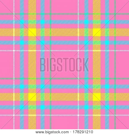check diamond tartan plaid fabric seamless pattern texture background - pastel pink yellow blue green and white color