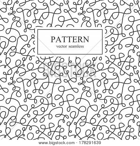 Curve seamless pattern in memphis style. Vector background.
