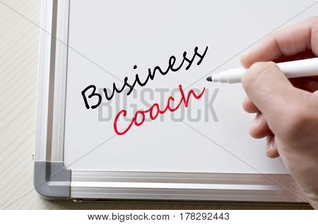 Business Coach Written On Whiteboard