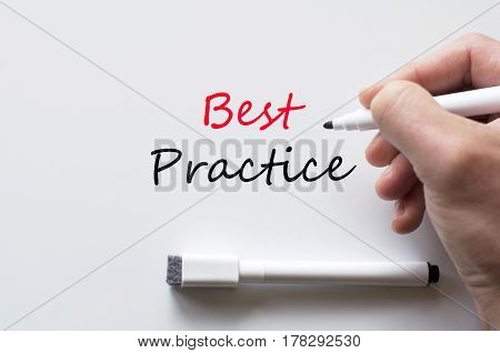 Best Practice Written On Whiteboard