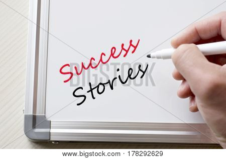 Success Stories Written On Whiteboard