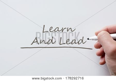 Learn And Lead Written On Whiteboard