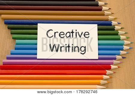 Creative Writing Text Concept