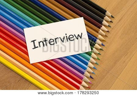 Interview Text Concept