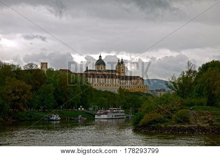 Beautiful view of Stift Melk Abbey, Wachau. AUSTRIA.
