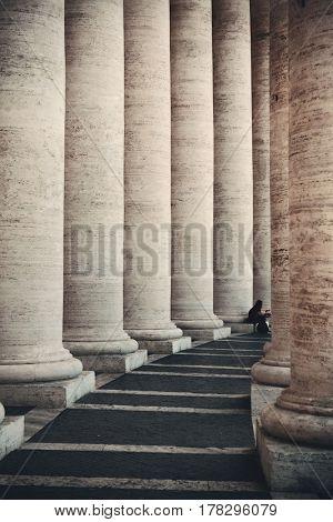 Historical corridor in Vatican City
