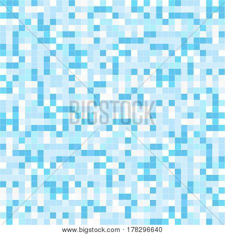Blue mosaic backgrund - seamless. Tile repeatable texture.