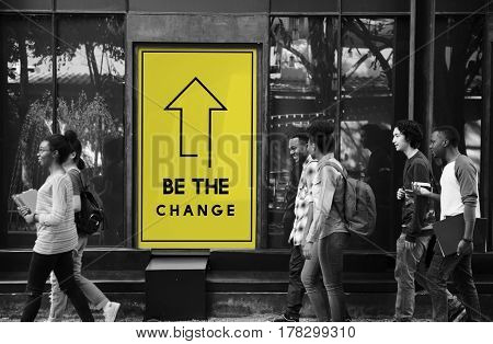 Be The Change Arrow Frame Direction