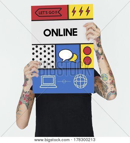 Online Communication Connection Interaction Concept