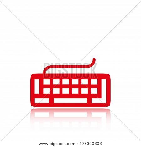 keyboard icon stock vector illustration flat design