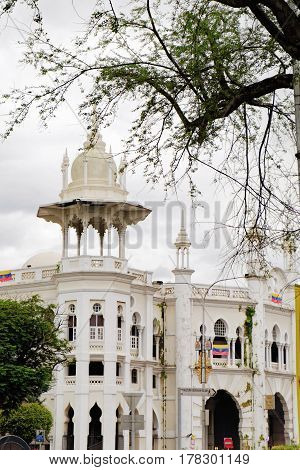 Kuala Lumpur, Malaysia - February 7, 2016: Malayan Railway Administration Building in Kuala Lumpur, Malaysia. Beautiful historic buildings of Kuala Lumpur.