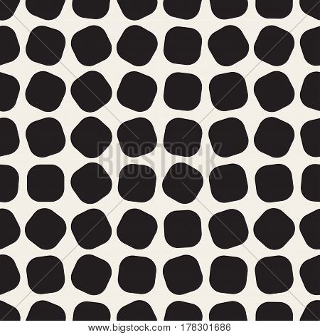 Chaotic square seamless geometric pattern. Vector background